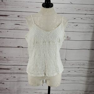 Pierre Cardin tank top adjustable straps lace